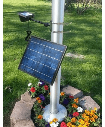 12 Led 420 LUX Commercial  Solar Powered Up Light Fits Poles up to 6 in Dia.