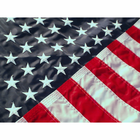 3'X5'  Embroidered Nylon American Flag