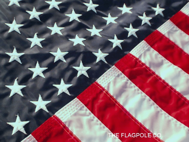 4'X6'  Embroidered Nylon American Flag