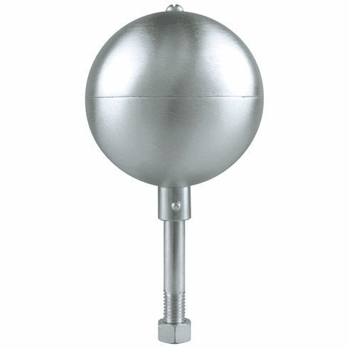 "8"" Natural Satin Ball Finial with 1/2 Shank"