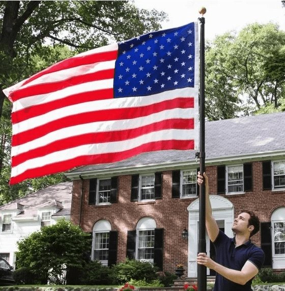 (BEST) 15ft, 20ft & 25ft Superior Telescoping Flagpole Average Expectancy - Lifetime