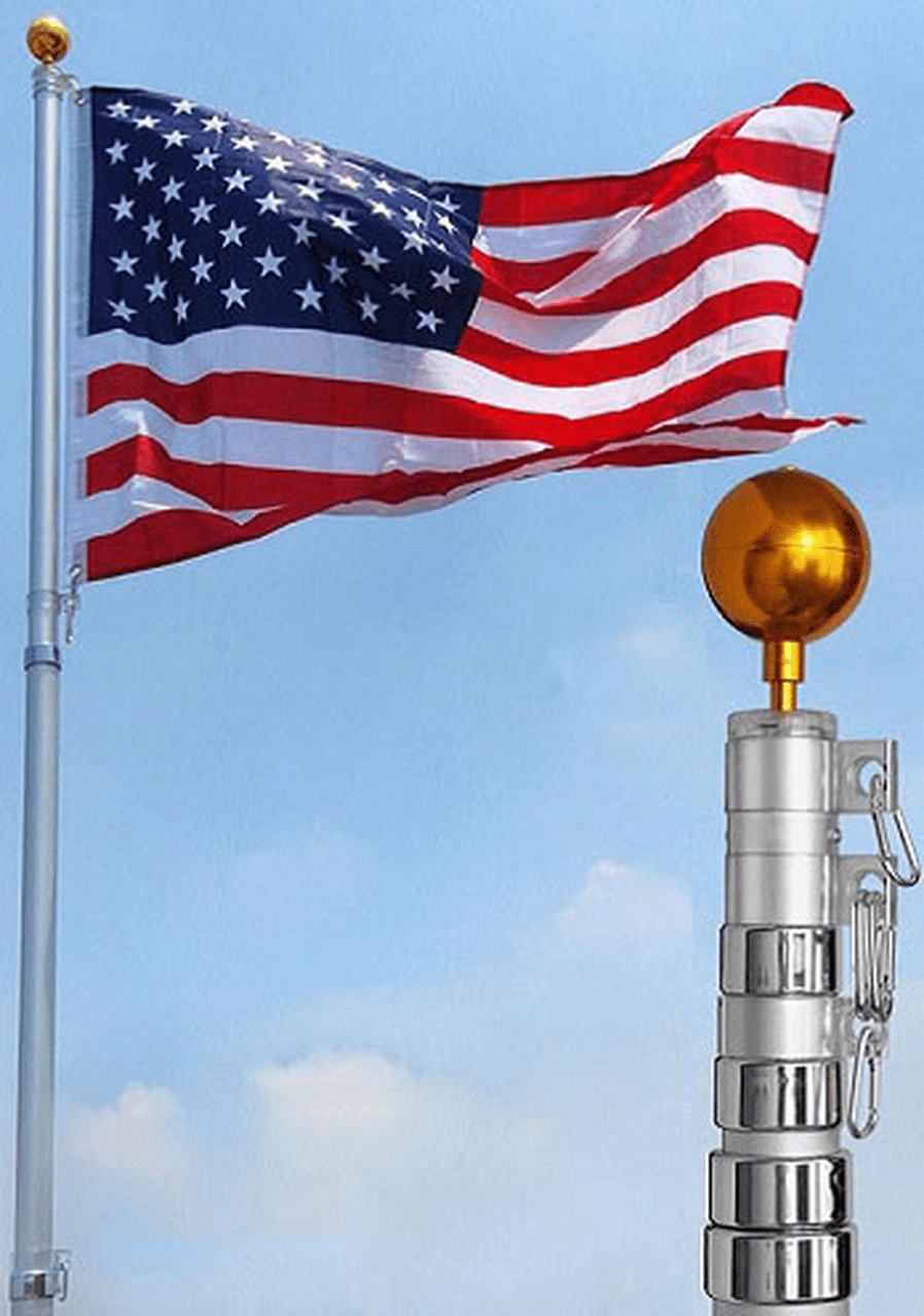 (BUDGET) Telescoping Flagpole Online / Facebook / Amazon Average Life up to 2Yrs