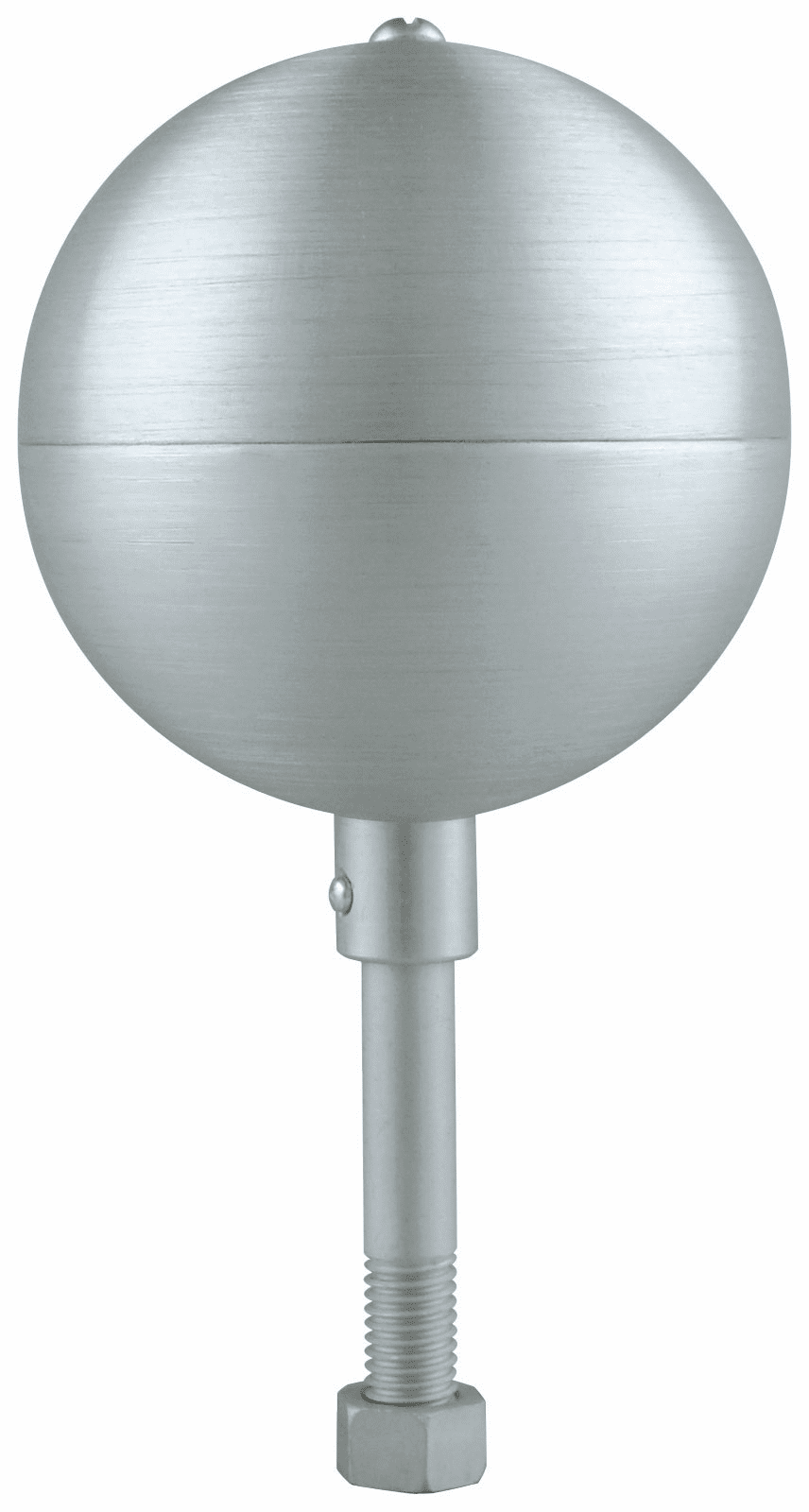 Clear Anodized Aluminum Ball Finials