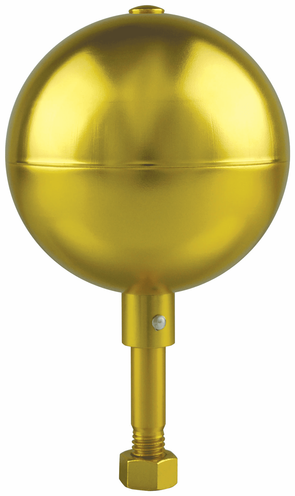 Gold Anodized Aluminum Ball Finials