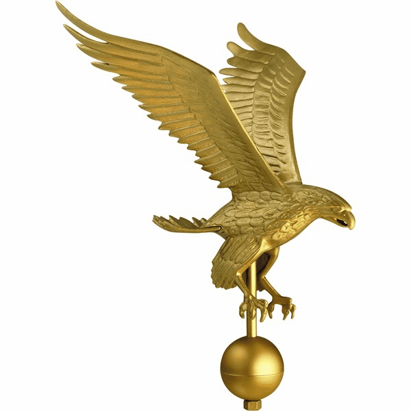 Gold Eagle Aluminum Finials
