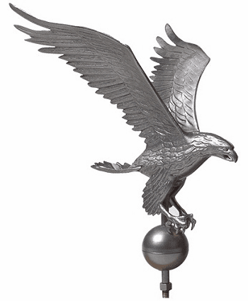 Pewter Eagle Aluminum Finials