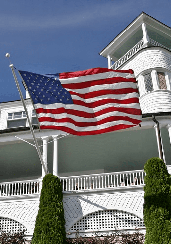 Outrigger Wall Mount Flagpoles