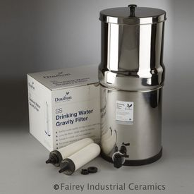 Doulton SS-2 Stainless Steel Gravity Filter With 2 - 7 inch SuperSterasyl Candles