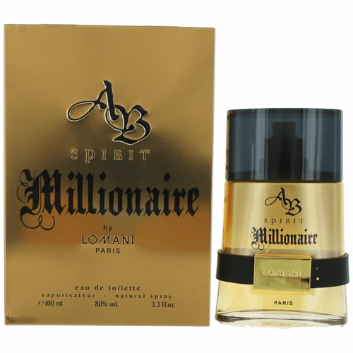 AB Spirit Millionaire by Lomani, 3.3 oz Eau De Toilette Spray for Men