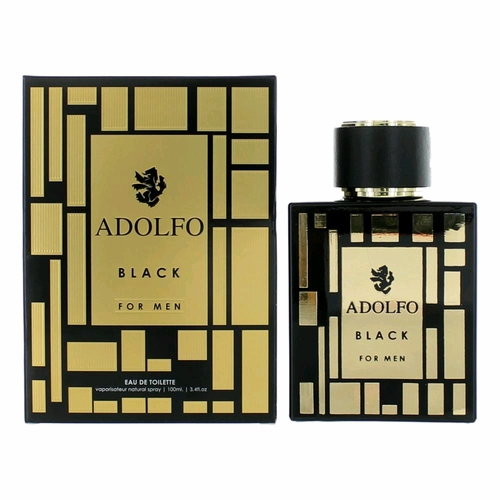 Adolfo Black by Adolfo, 3.4 oz Eau De Toilette Spray for Men