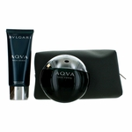 Aqva Pour Homme by Bvlgari, 3 Piece Gift Set for Men