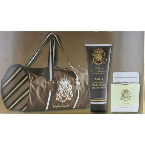 Arrogant by English Laundry, 3 Piece Gift Set for Men with Bag