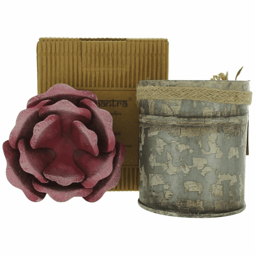 Bali Mantra Handmade Scented Candle In Rose Tin - Peach Grapefruit