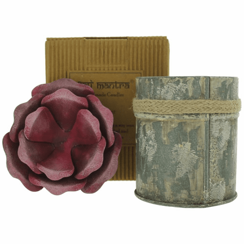 Bali Mantra Handmade Scented Candle In Rose Tin - Redcurrant