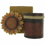 Bali Mantra Handmade Scented Candle In Sunflower Tin - French Vanilla