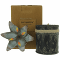 Bali Mantra Handmade Scented Candle In Waterlily Tin - Redcurrant