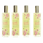 Beautiful Blossoms by Bodycology, 4 Pack 8 oz Fragrance Mist for Women