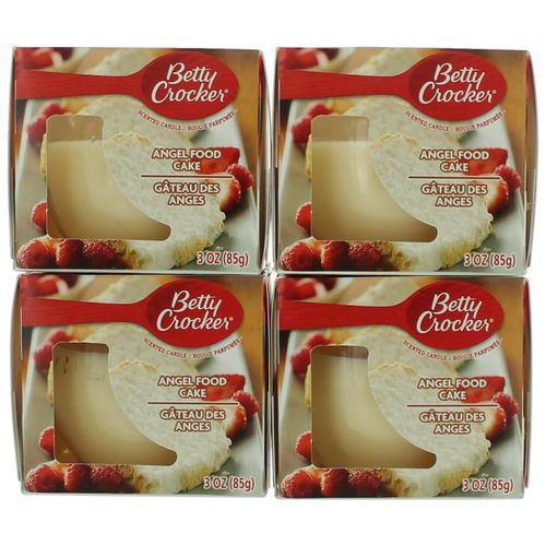 Betty Crocker Scented Candle 4 Pack of 3 oz Jars - Angel Food Cake