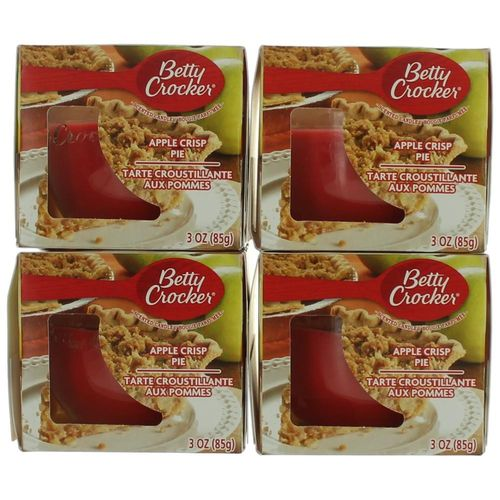 Betty Crocker Scented Candle 4 Pack of 3 oz Jars - Apple Crisp Pie