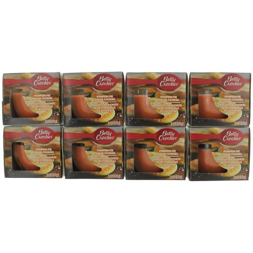 Betty Crocker Scented Candle 8 Pack of 3 oz Jars - Pumpkin Pie Sugar Cookies