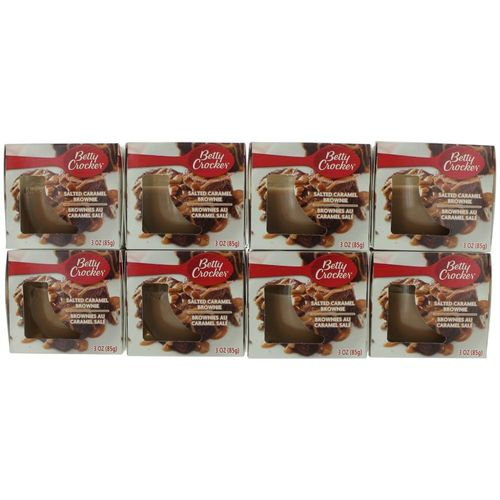 Betty Crocker Scented Candle 8 Pack of 3 oz Jars - Salted Caramel Brownie