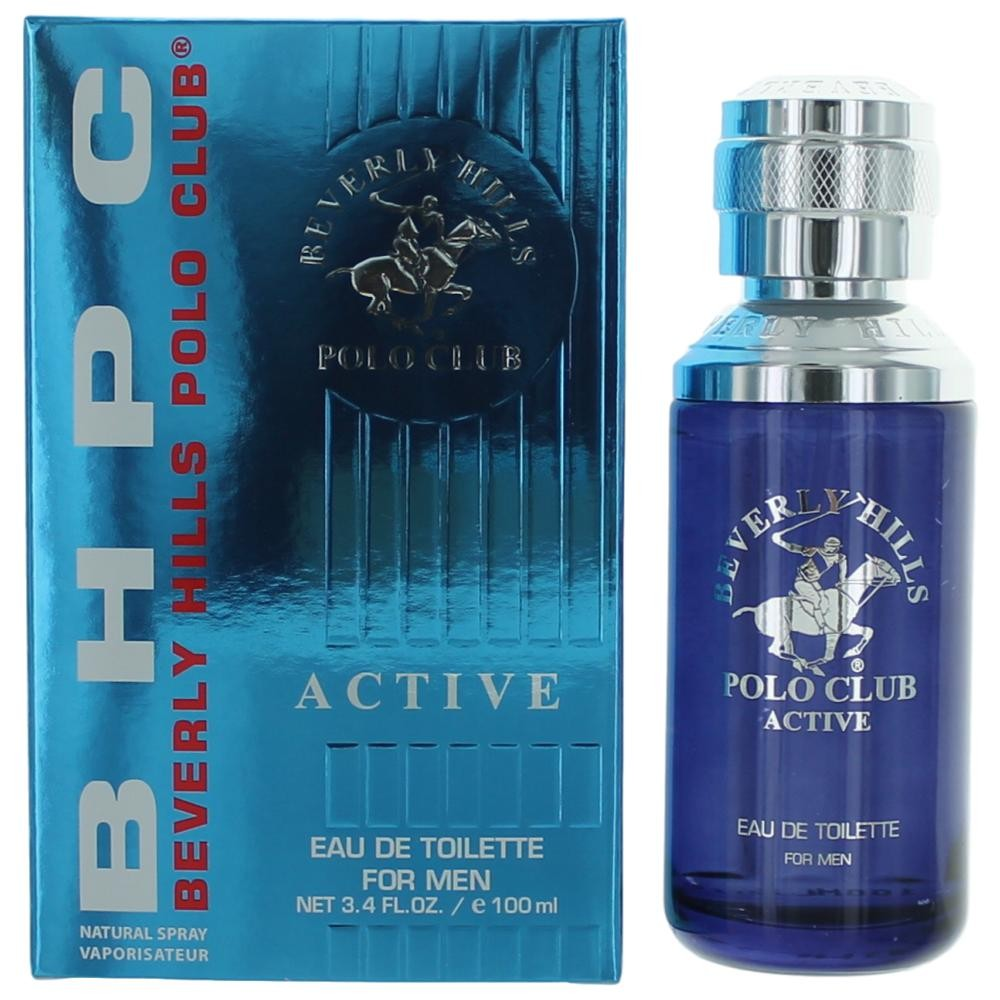 Authentic Bhpc Active Sport Cologne By Beverly Hills Polo