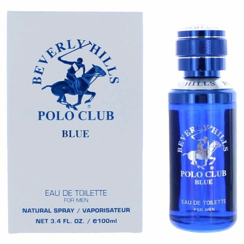BHPC Blue by Beverly Hills Polo Club, 3.4 oz Eau De Toilette Spray for Men