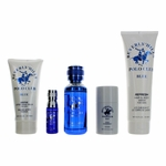 BHPC Blue by Beverly Hills Polo Club, 5 Piece Gift Set for Men with Stick