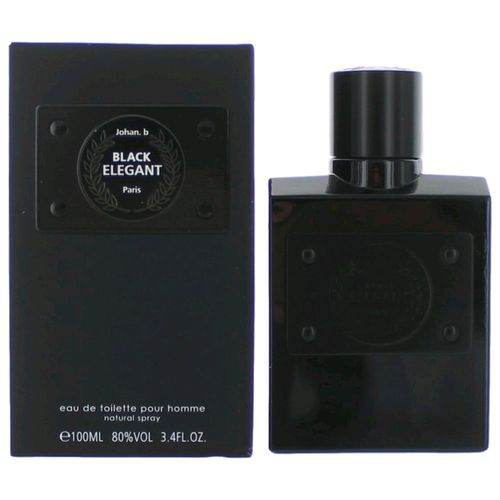 Black Elegant by Johan.b, 3.4 oz Eau De Toilette Spray for Men