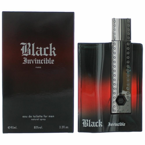 Black Invincible by Geparlys, 3.2 oz Eau De Toilette Spray for Men