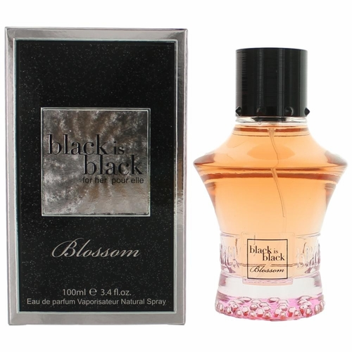 Black is Black Blossom by NuParfums, 3.4 oz Eau De Parfum Spray for Women