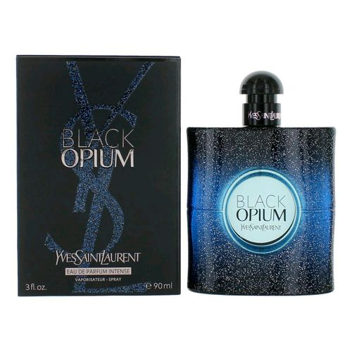 Black Opium by Yves Saint Laurent, 3 oz Eau De Parfum Intense Spray for Women