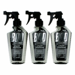 Bod Man Liquid Titanium by Parfums De Coeur, 3 Pack 8 oz Fragrance Body Spray for Men