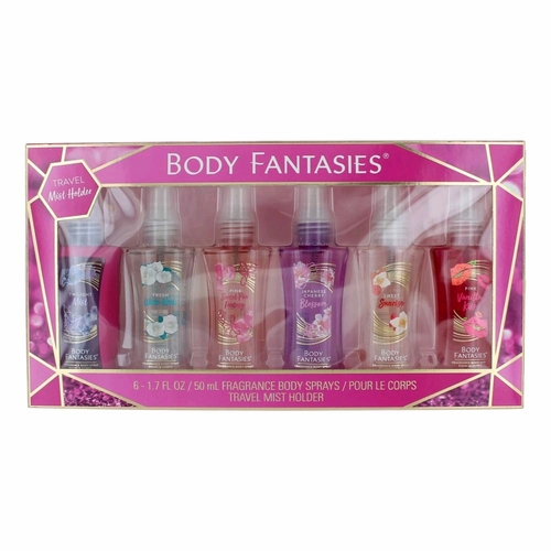 Body Fantasies by Parfums De Coeur, 6 Piece Variety Body Sprays for Women