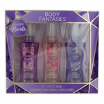 Body Fantasies Classic Florals by Parfums De Coeur, 3 Piece Variety Body Spray Set for Women