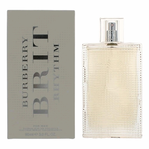 Brit Rhythm Floral by Burberry, 3 oz Eau De Toilette Spray for Women