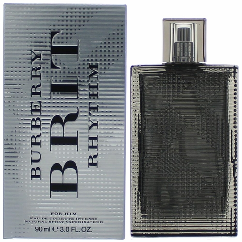 Brit Rhythm Intense by Burberry, 3 oz Eau De Toilette Spray for Men