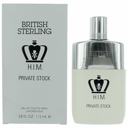 British Sterling H.I.M. Private Stock by Dana, 3.8 oz Eau De Toilette Spray for Men