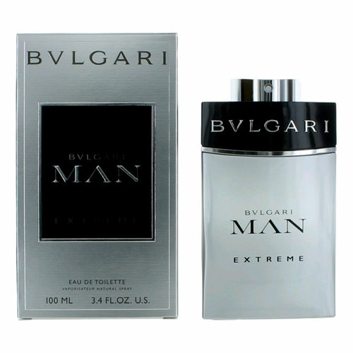 Bvlgari MAN Extreme by Bvlgari, 3.4 oz Eau De Toilette Spray for Men