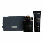 Bvlgari Man In Black by Bvlgari, 3 Piece Gift Set for Men