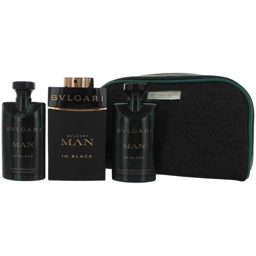 695c5953f8 Authentic Bvlgari MAN in Black Cologne By Bvlgari, 4 Piece Gift Set ...