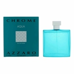 Chrome Aqua by Azzaro, 3.4 oz Eau De Toilette Spray for Men