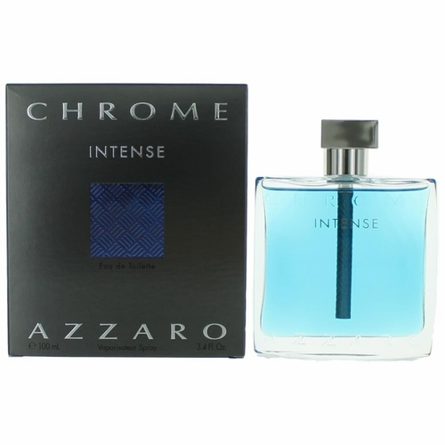 Chrome Intense by Azzaro, 3.4 oz Eau De Toilette Spray for Men
