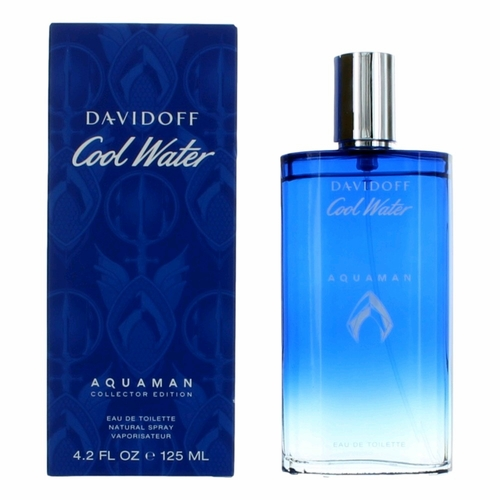 Cool Water Aquaman Collector Edition by Davidoff, 4.2 oz Eau De Toilette Spray for Men