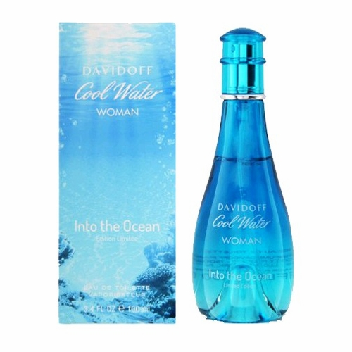 Cool Water Into the Ocean by Davidoff, 3.4 oz Eau De Toilette Spray for Women Limited Edition