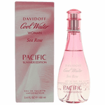Cool Water Sea Rose Pacific by Davidoff, 3.4 oz EDT Spray for Women