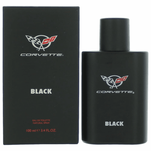 Corvette Black by General Motors, 3.4 oz Eau De Toilette Spray for Men