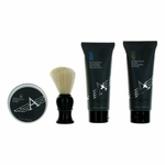 Cruiser by Aubusson, 4 Piece Grooming Advanced Shave Set for Men