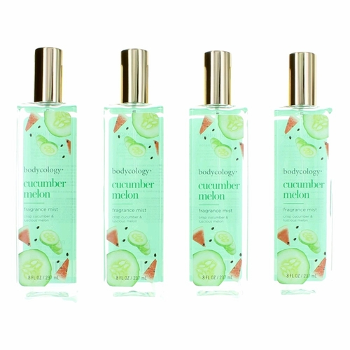 Cucumber Melon by Bodycology, 4 Pack 8 oz Fragrance Mist for Women