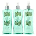 Cucumber Melon Fantasy by Body Fantasies, 3 Pack of 8 oz Fragrance Body Spray for Women